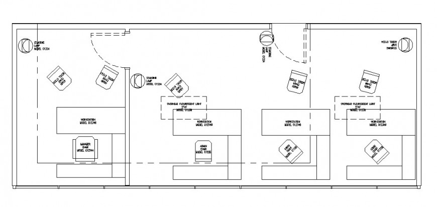 Small office building floor plan cad drawing details dwg file