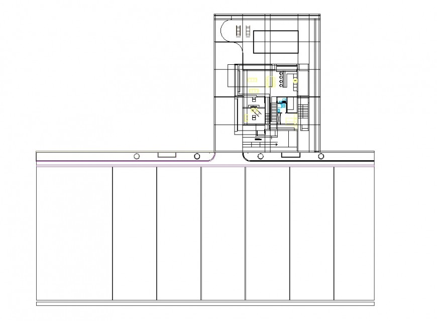 Small office commercial building plan autocad file