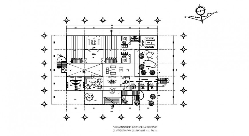 Small office general architecture layout plan cad drawing details dwg file