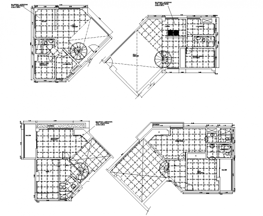 Small office planning detail autocad file