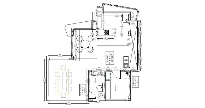 Small one family house layout plan auto-cad drawing details dwg file