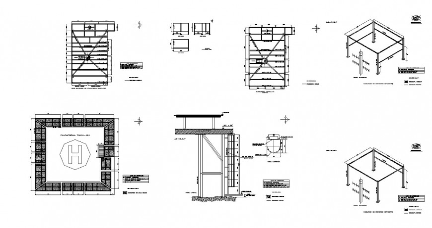 Small school design working drawing in dwg file.