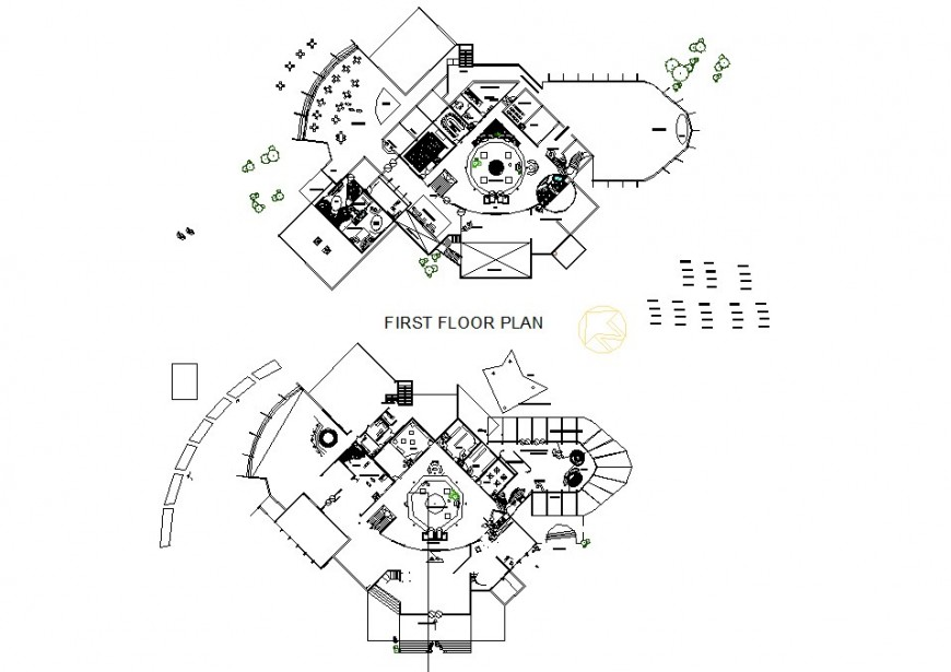 Small size of hotel plan layout file