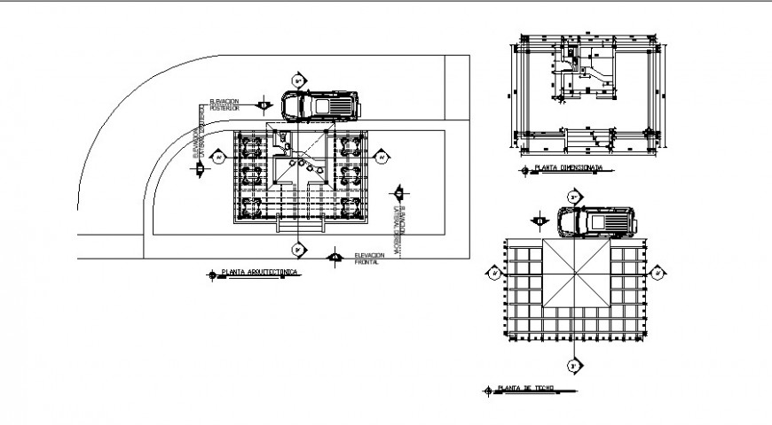 Small Store bar building detail 2d view layout plan in autocad format