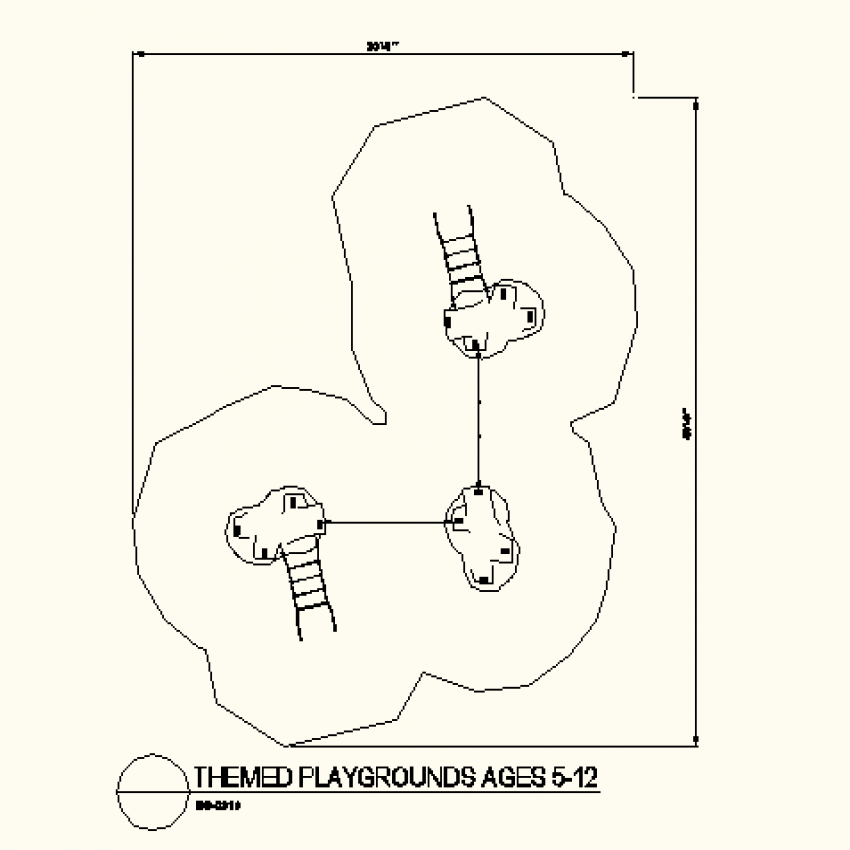 Small themed play park layout plan