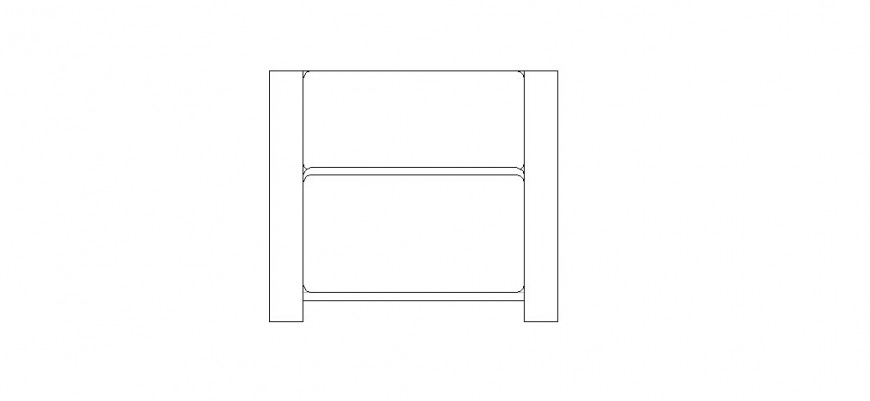 Small wooden chair elevation block cad drawing details dwg file