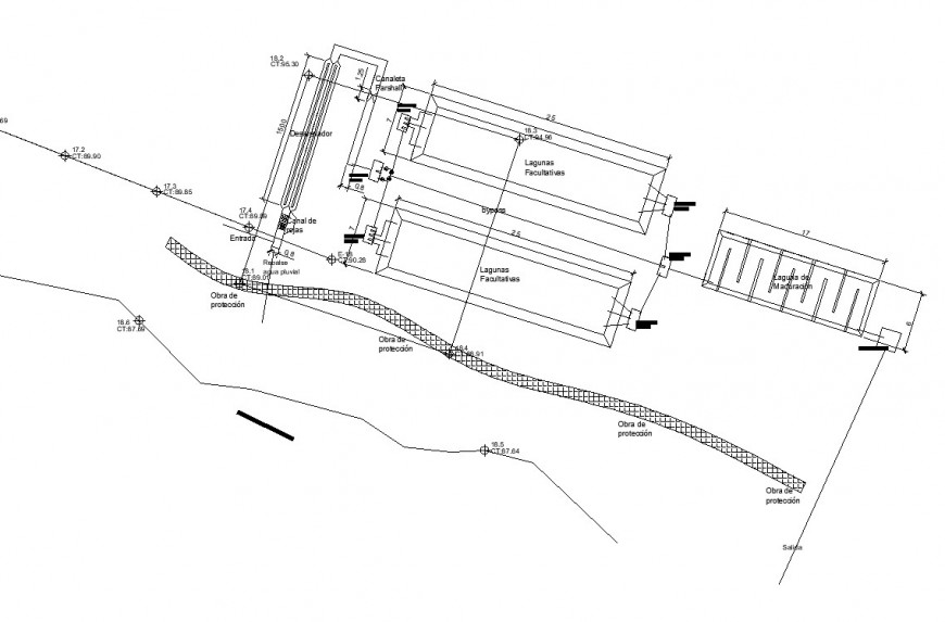 smch treatment plant drawing in dwg file.