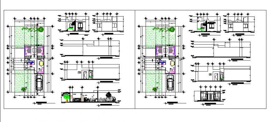 Socio economic housing design drawing project