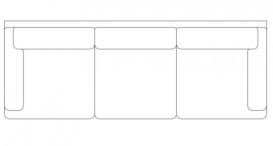 Sofa-set furniture units layout AutoCAD file