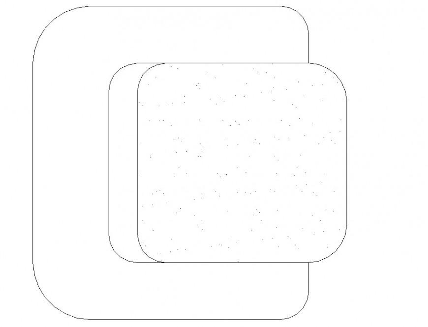 Sofa Chair plan drawing in dwg file.