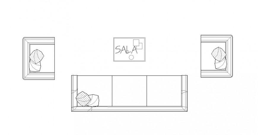 Sofa set units detail elevation 2d view CAD furniture block autocad file