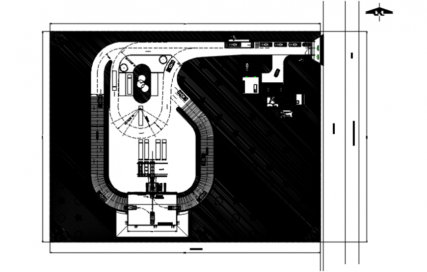 Solid waste transfer station plant distribution plan cad drawing details dwg file