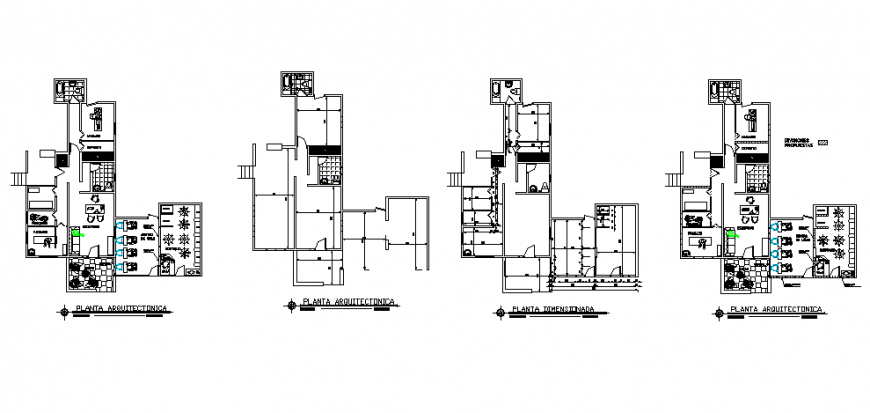 Spa and saloon working plan in dwg file.