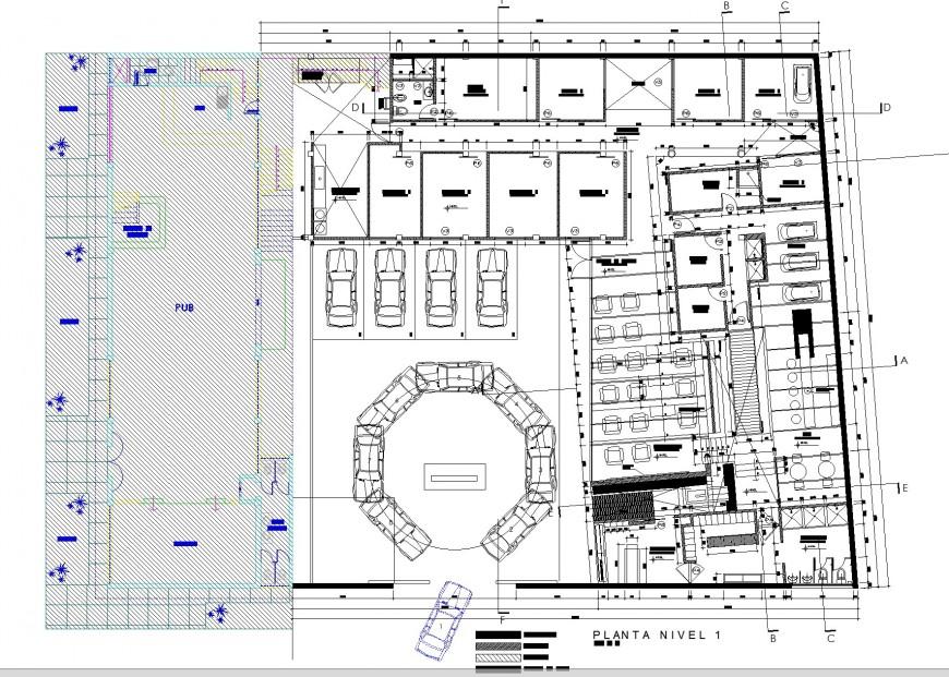 Spa Trujillo planning detail dwg file