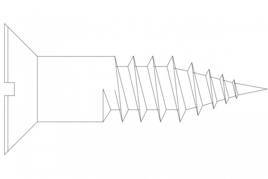 Space shuttle elevation single block details dwg file
