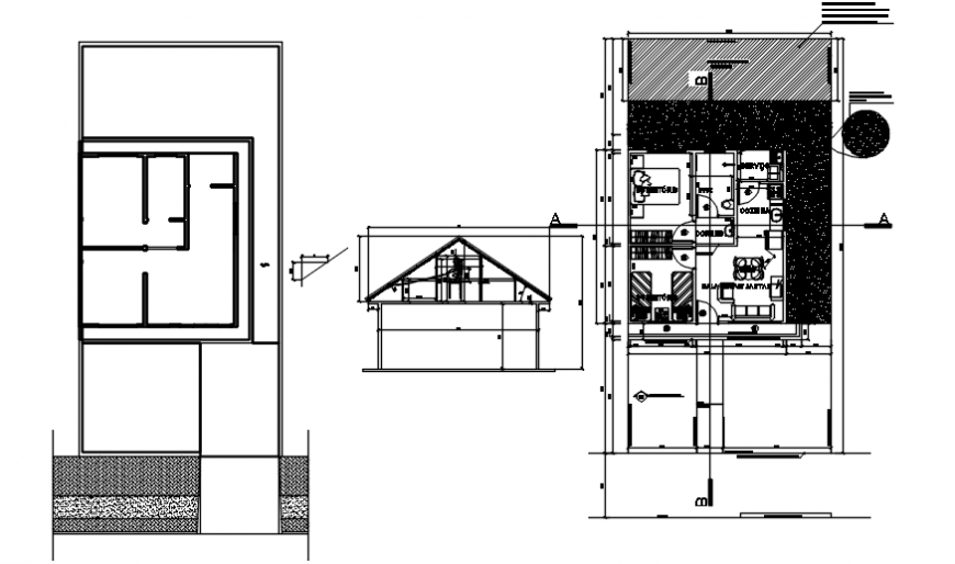 Spacing concept of and sectional elevation detail