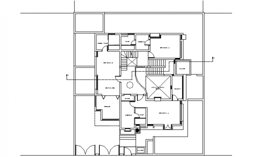 Spacing concept of apartment