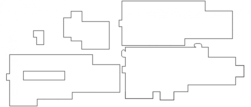 Spacing concept of hospital dwg file