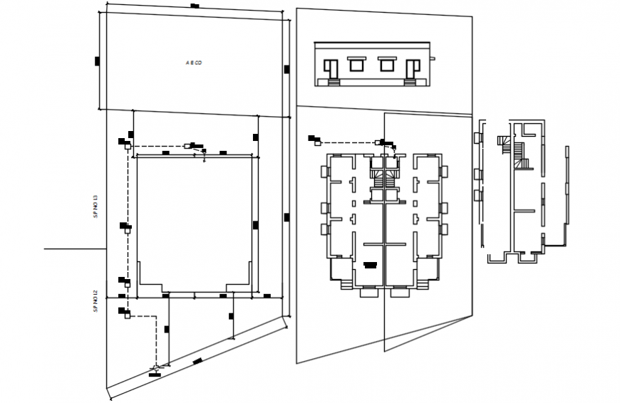 Spacing concept of house 2d detail model