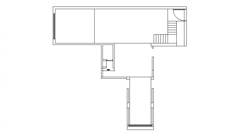 Spacing concept of House and staircase plan