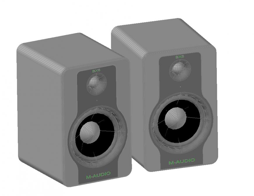 Speaker 3 D modal detail dwg file