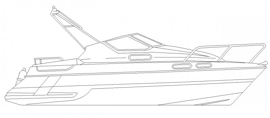 Speed Boat Side elevation design