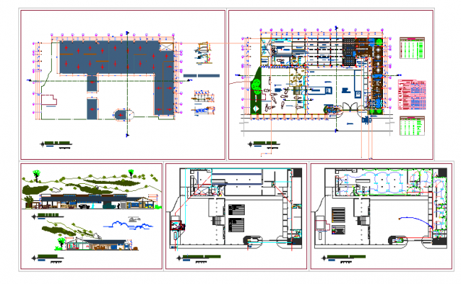 sports clubhouse floor plans in cad file