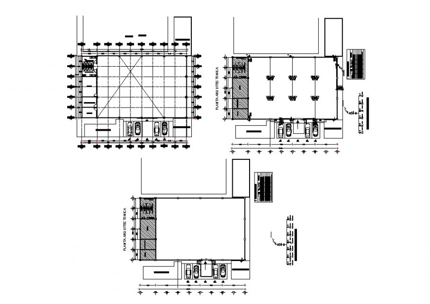Sports building floors distribution plan cad drawing details dwg file