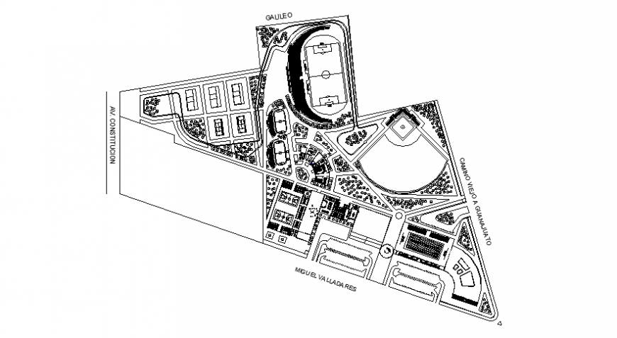 Sports playground area drawings 2d view floor plan autocad file