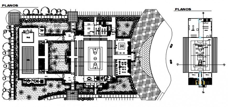 Sports playground area drawings 2d view floor plan dwg autocad file