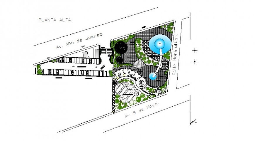 Sports training center and park landscaping structure details dwg file