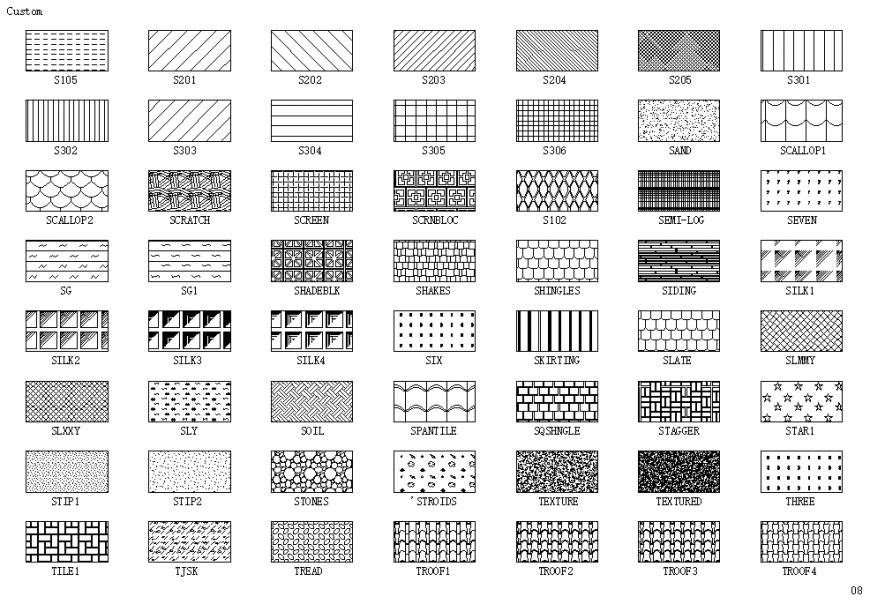 Square shape interior tile block design cad drawing details dwg file