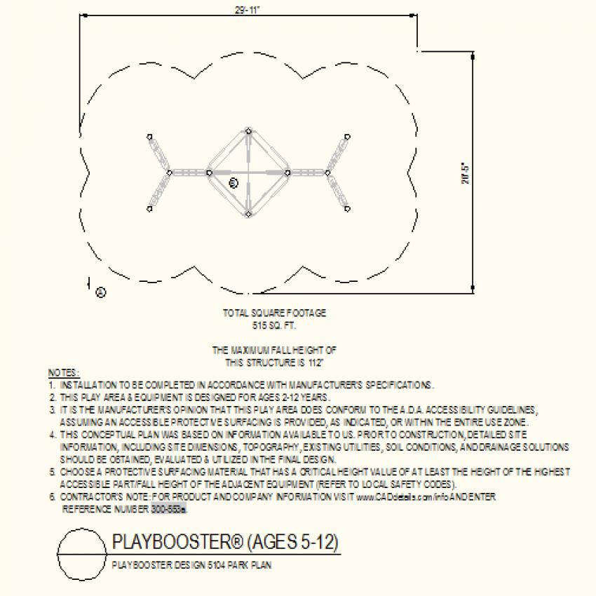 Square shape park plan layout plan