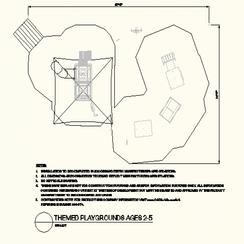 Square shaped park layout file