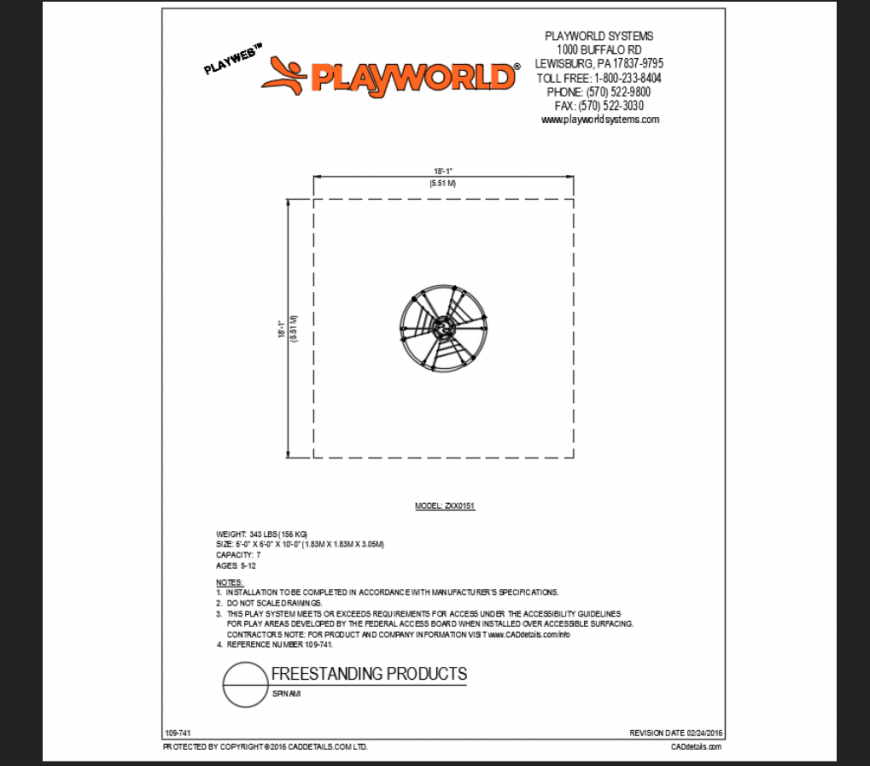 Srinam rope style play equipment details of free standing park dwg file