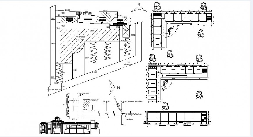 ST. Bernad school elevation, section and floor plan drawing details dwg file