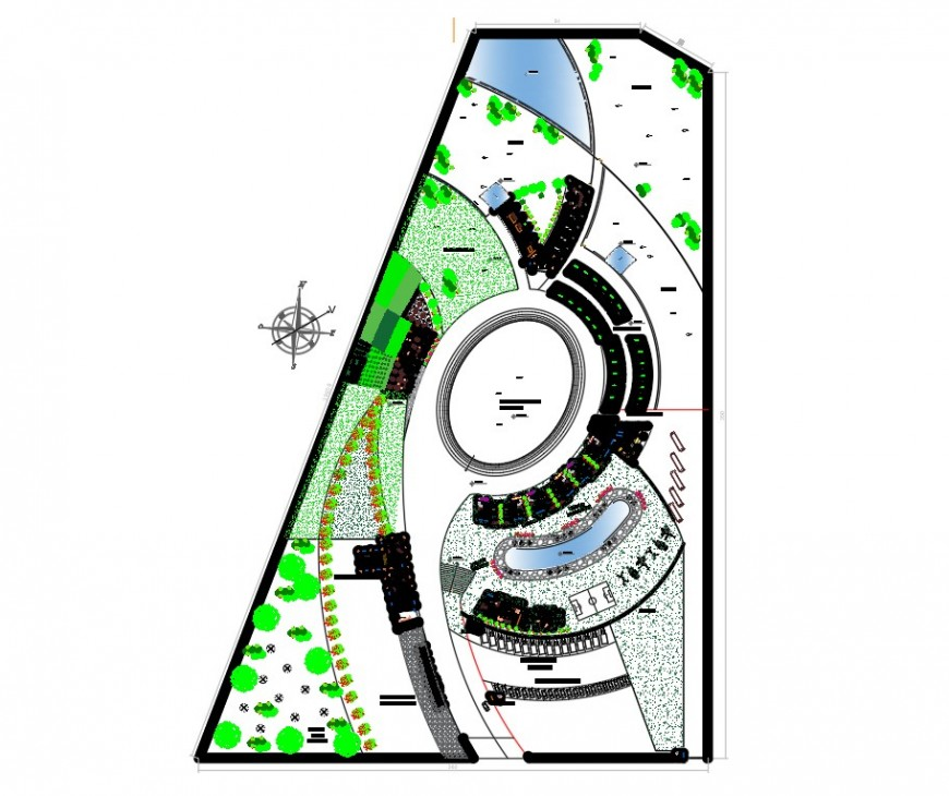 Stable detail elevation plan view layout file