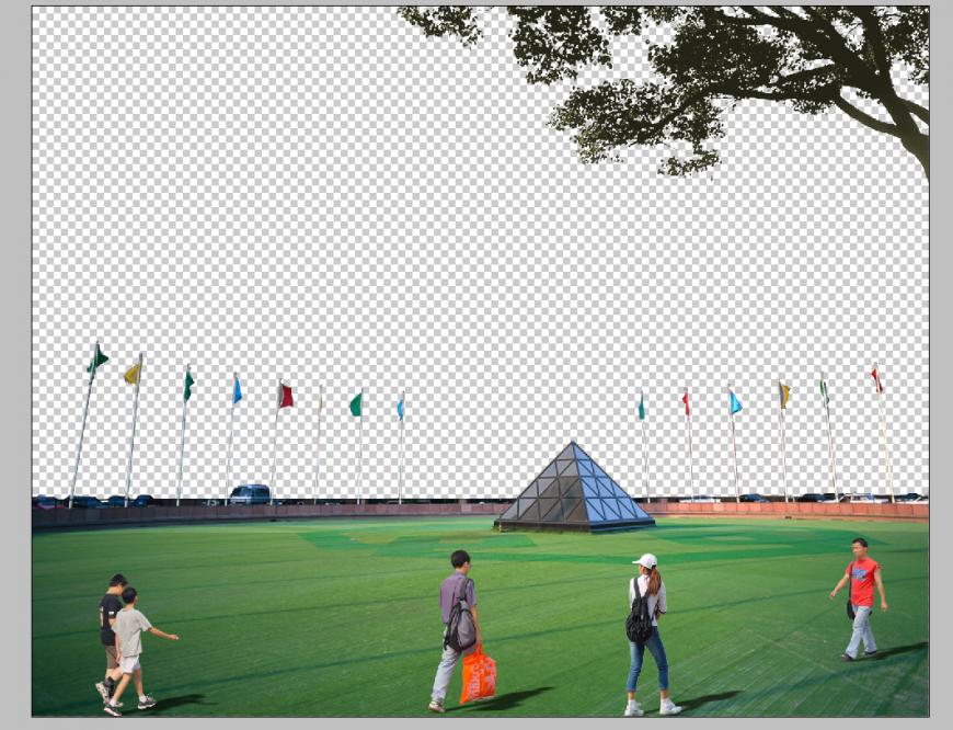 Stadium detail 3d model elevation photo shop file