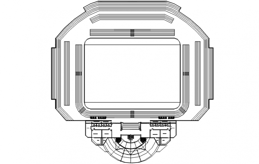 Stadium top view plan concept  file