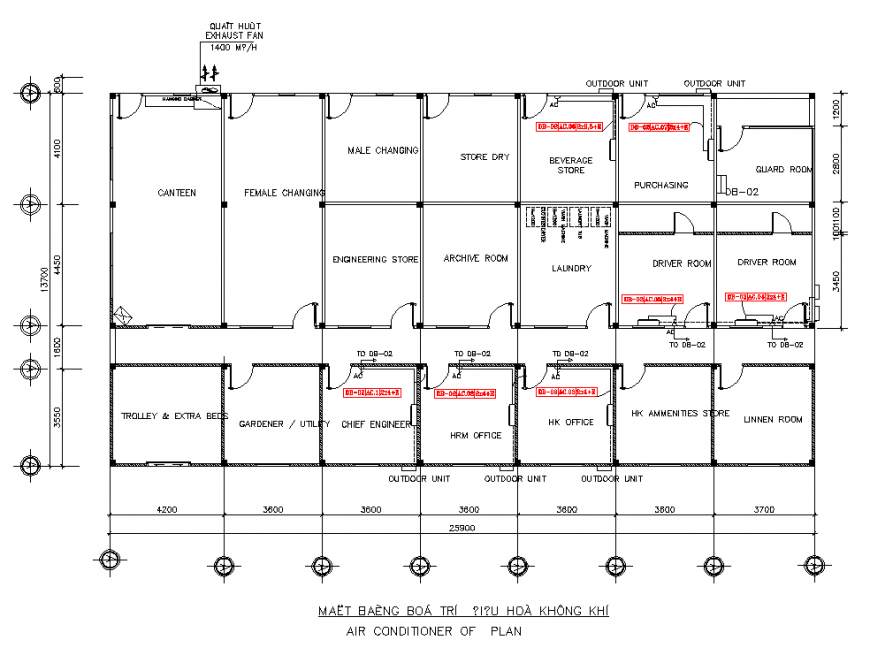 Staff house detail elevation and plan layout file