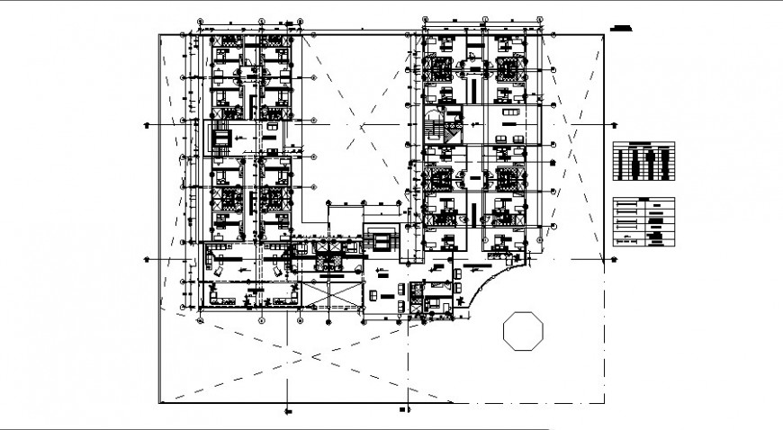Staff residence floor detail cad file