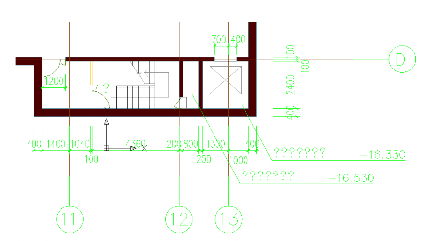 Stair Structure Lay-out plan Detail