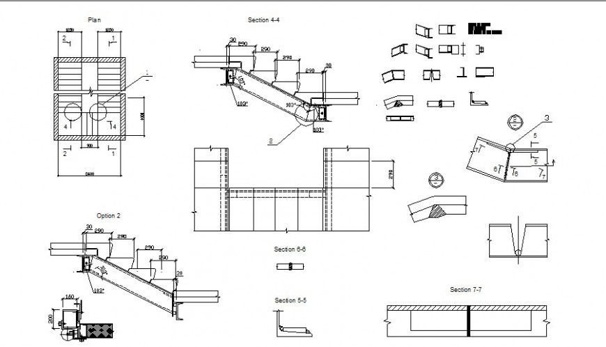 Stairway 2d drawing the autocad