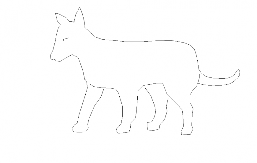 Standing Position Dog Block Elevation drawing