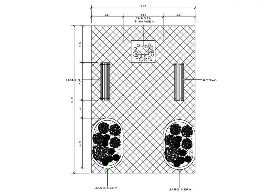 Statue design drawings 2d view plan dwg autocad file