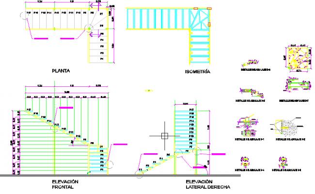 steel stair case structure design