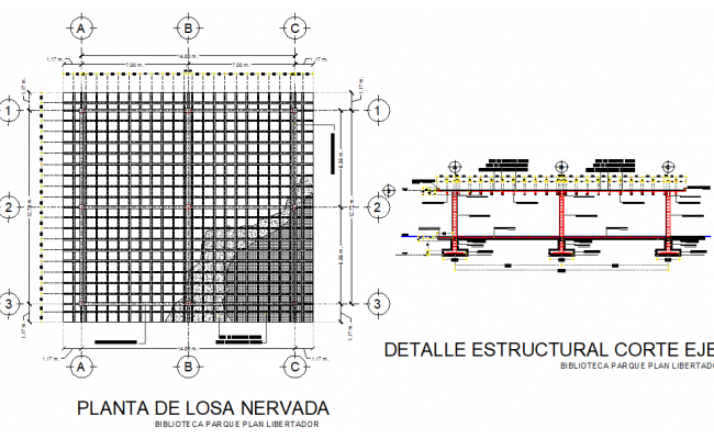 steel structure plan with detail