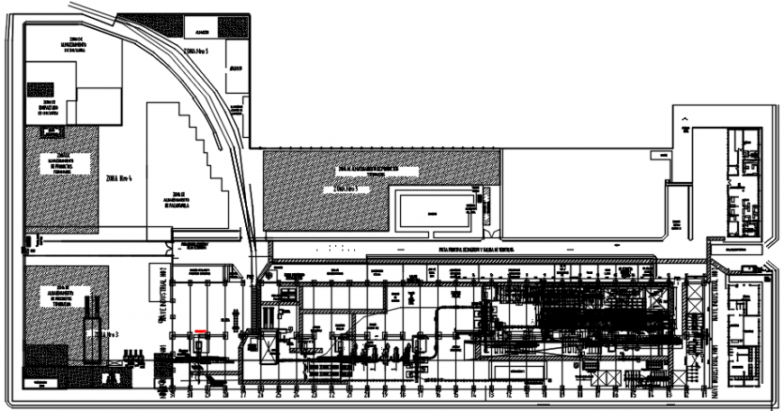 Steel factory plant distribution layout plan cad drawing details dwg file