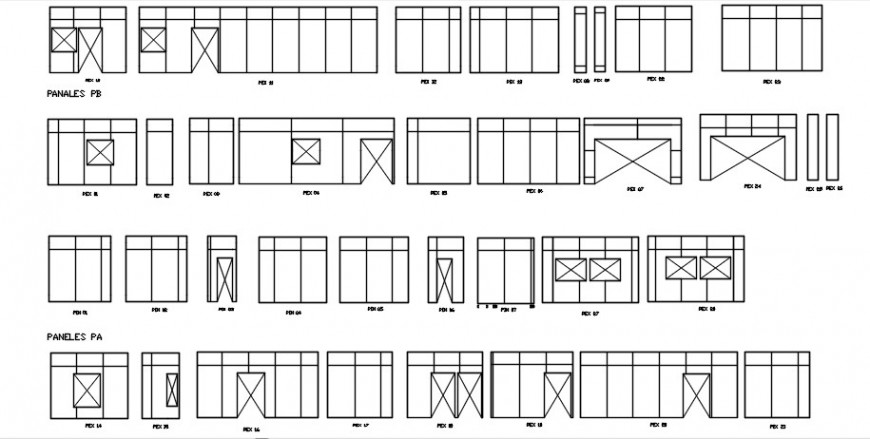 Steel frame doors and windows elevation blocks cad drawing details dwg file