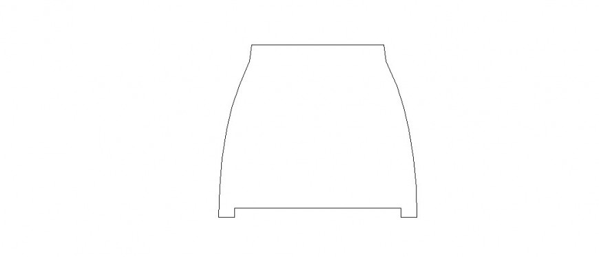 Stool table 2d elevation block cad drawing details dwg file